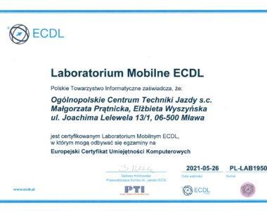 Certyfikat ECDL - Laboratorium Mobilne
