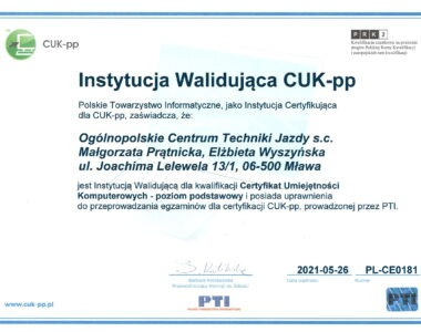 Instytucja Walidująca CUK-pp