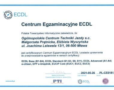 Certyfikat ECDL - Centrum Egzaminacyjne